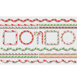 candy borders frames vector image vector image