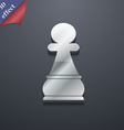 Chess Pawn icon symbol 3D style Trendy modern vector image vector image