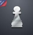 chess pawn icon symbol 3d style trendy modern