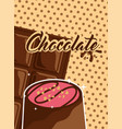 chocolate cocoa card vector image vector image