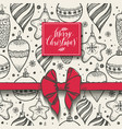 christmas seamless pattern with christmas elements vector image vector image