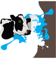 cow milk package vector image
