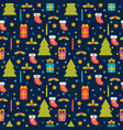 cute seamless pattern holidays background with vector image vector image