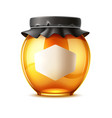 delicious honey ad glass jar with lid vector image vector image