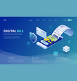 digital bill and online bank vector image vector image