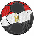 egypt flag with soccer ball background vector image