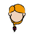 face head girl daughter young image vector image