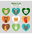 Farm animals and pets avatars vector image vector image
