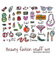 fashion and beauty women accessories elements set vector image