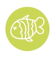 fish food meat icon vector image