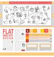 Flat web site design vector image