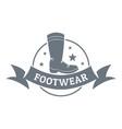 footwear logo vintage style vector image vector image