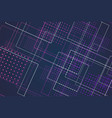 futuristic blue violet abstract structure circuit vector image
