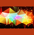 geometric background with mesh and lights vector image vector image