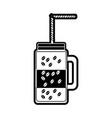glass jar coffee vector image