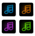 glowing neon music note tone icon isolated on vector image