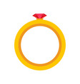 gold ring with diamond icon or golden vector image vector image