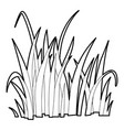 grass icon outline style vector image vector image