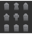 Gravestones with RIP vector image vector image