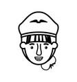 head woman pilot avatar character vector image vector image