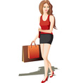 Hip Lady Going Shopping vector image vector image
