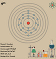 infographic element vanadium vector image vector image