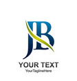 initial letter jb logo template colored green vector image vector image