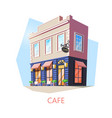 isometric cafe or cafeteria bistro building vector image