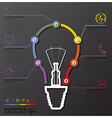 Light Bulb Connection Timeline Business vector image vector image