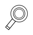line magnifying glass to exploration and search of vector image vector image