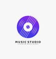 logo music studio gradient colorful style vector image