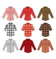 lumberjack check shirt old fashion vector image