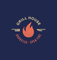 meat logo logo for grill house restaurant with vector image vector image