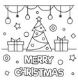 merry christmas coloring page vector image vector image