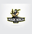 ninja esports mascot logo design vector image vector image