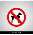 No dogs sign isolated on white background vector image