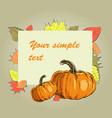 orange pumpkin banner vector image vector image
