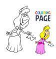 princess cartoon coloring page vector image
