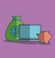 profit and money design vector image vector image