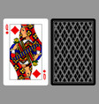 queen of diamonds playing card and the backside vector image vector image