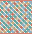 retro pattern of rhombus shapes mosaic banner vector image