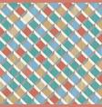 retro pattern rhombus shapes mosaic banner vector image vector image