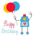 Robot birthday vector image vector image