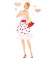 Romantic girl falling in love vector image