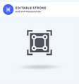 scale icon filled flat sign solid vector image vector image