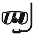 scuba mask icon simple style vector image