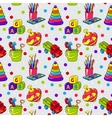 Seamless pattern with colorful childrens toys vector image vector image