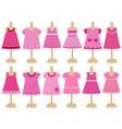 set childrens dresses on mannequins vector image vector image