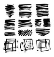 set grungy graphite pencil art brushes vector image vector image