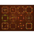 set of autumn leaves frames vector image vector image
